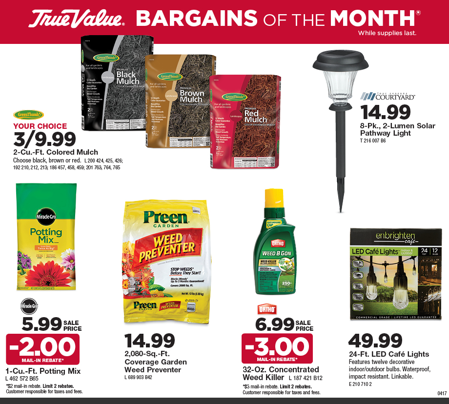 Goecker Building Supplies Inc Gt Sale Gt Bargains Of The Month